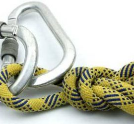 corda con moschettone